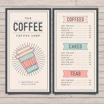 6 Mẫu Menu quán cà phê đẹp cho quán của bạn